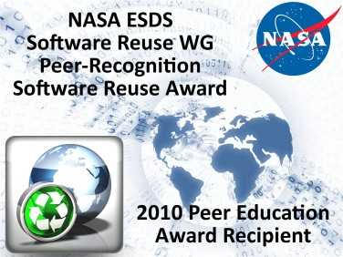 [NASA ESDS Software Reuse WG Peer-Recognition Software Reuse Award -- 2010 Peer Education Award Recipient]